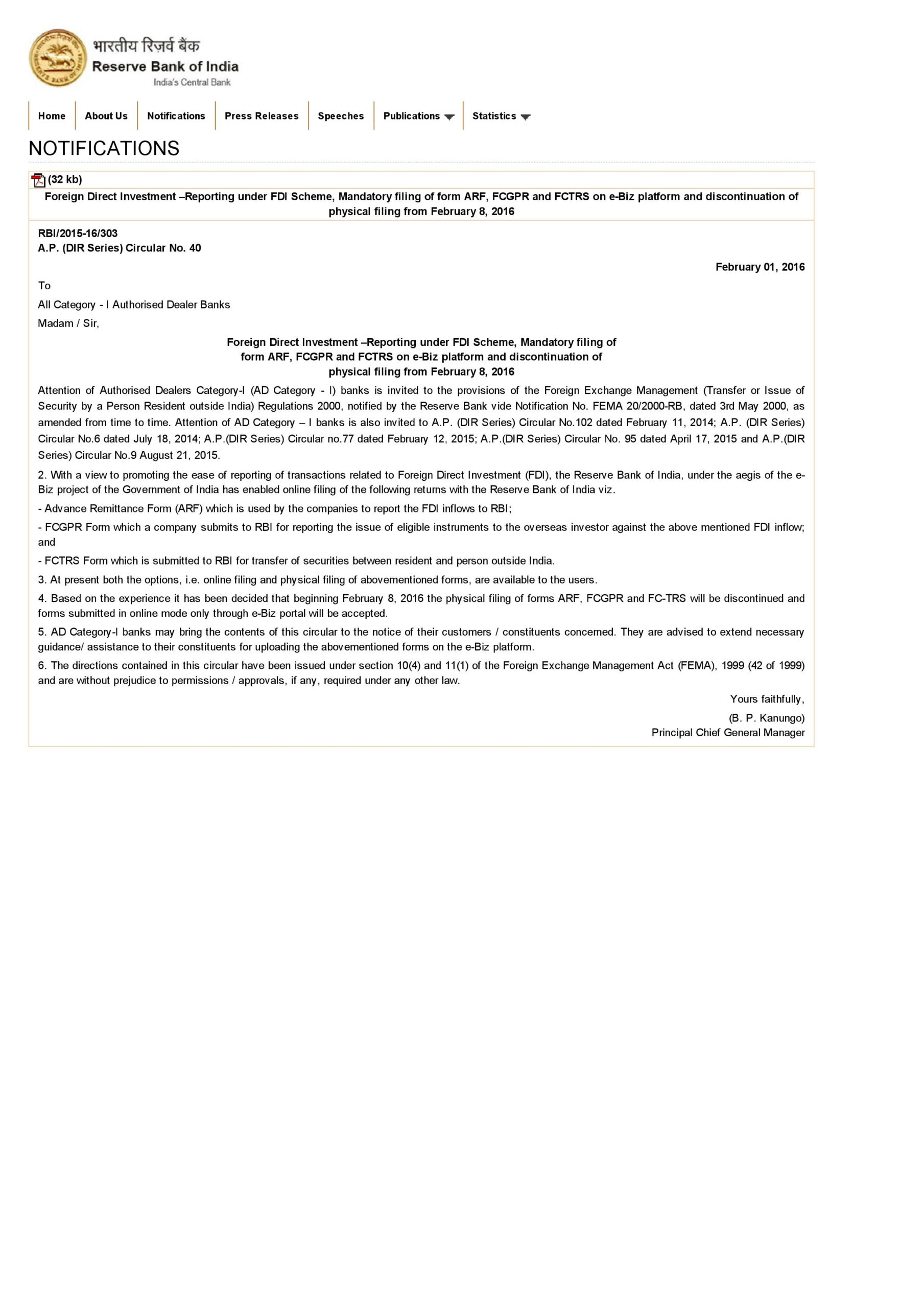 Rbi And Fema Compliances In Respect Of Transfer And Issue Of Shares