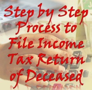 ITR Filing for a Deceased Person