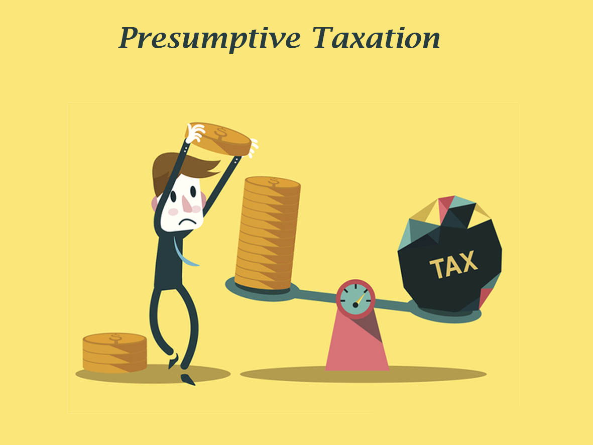 presumptive taxation The assessee can file tax return on presumptive basis if he/she is an assessee covered under specified profession however the total gross receipts from profession shall not exceed 50 lakhs in a financial year.